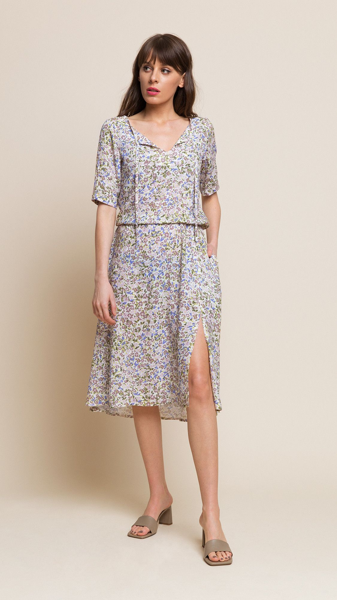 Dress Melissa Floral Beige