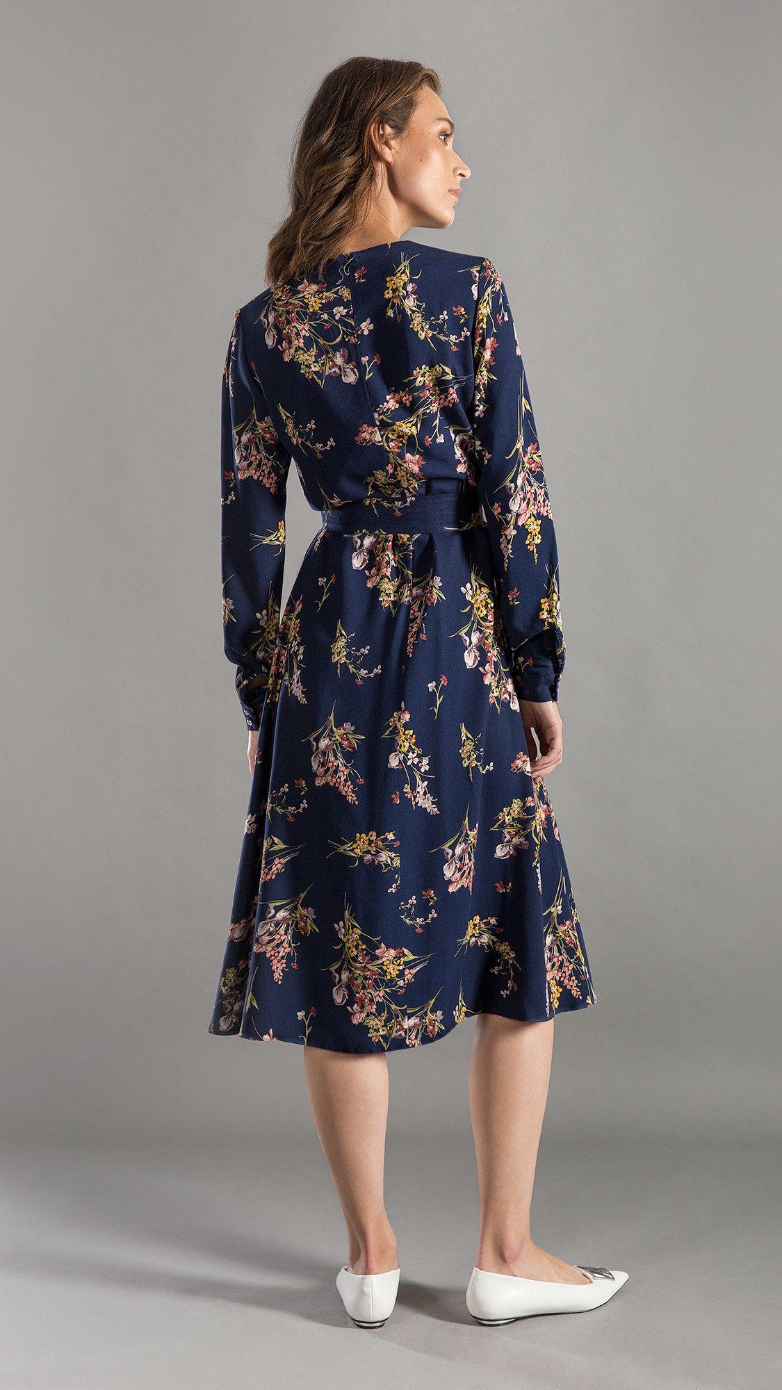 Dress Minnie Floral Navy