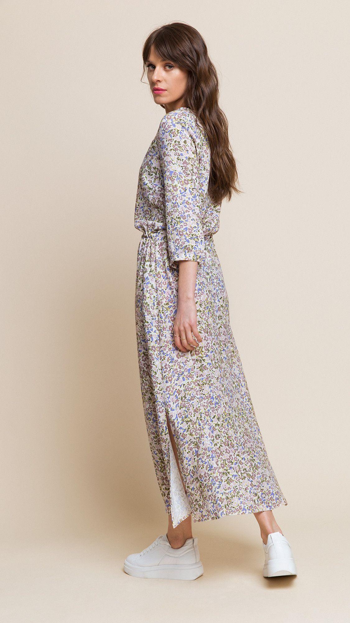 Dress Nancy Floral Beige