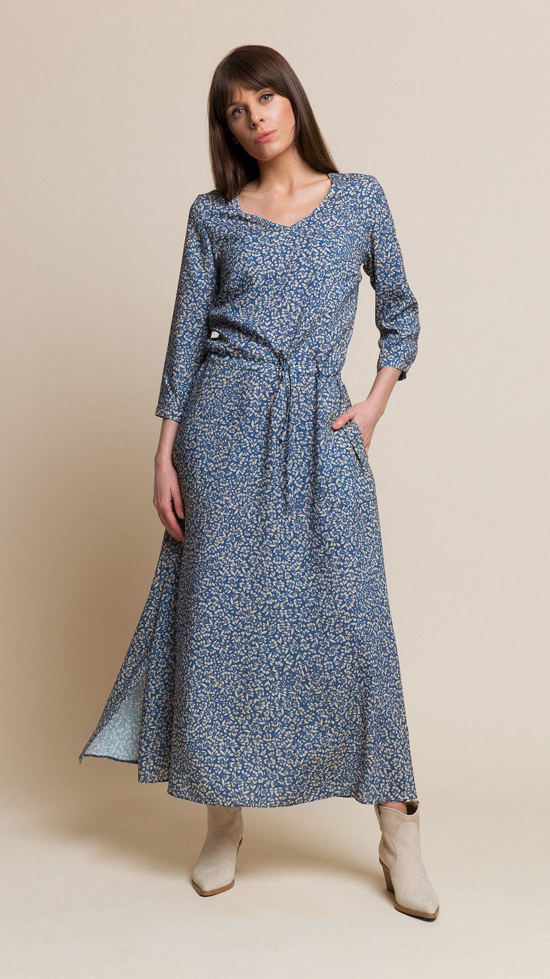 Dress Nancy Floral Blue