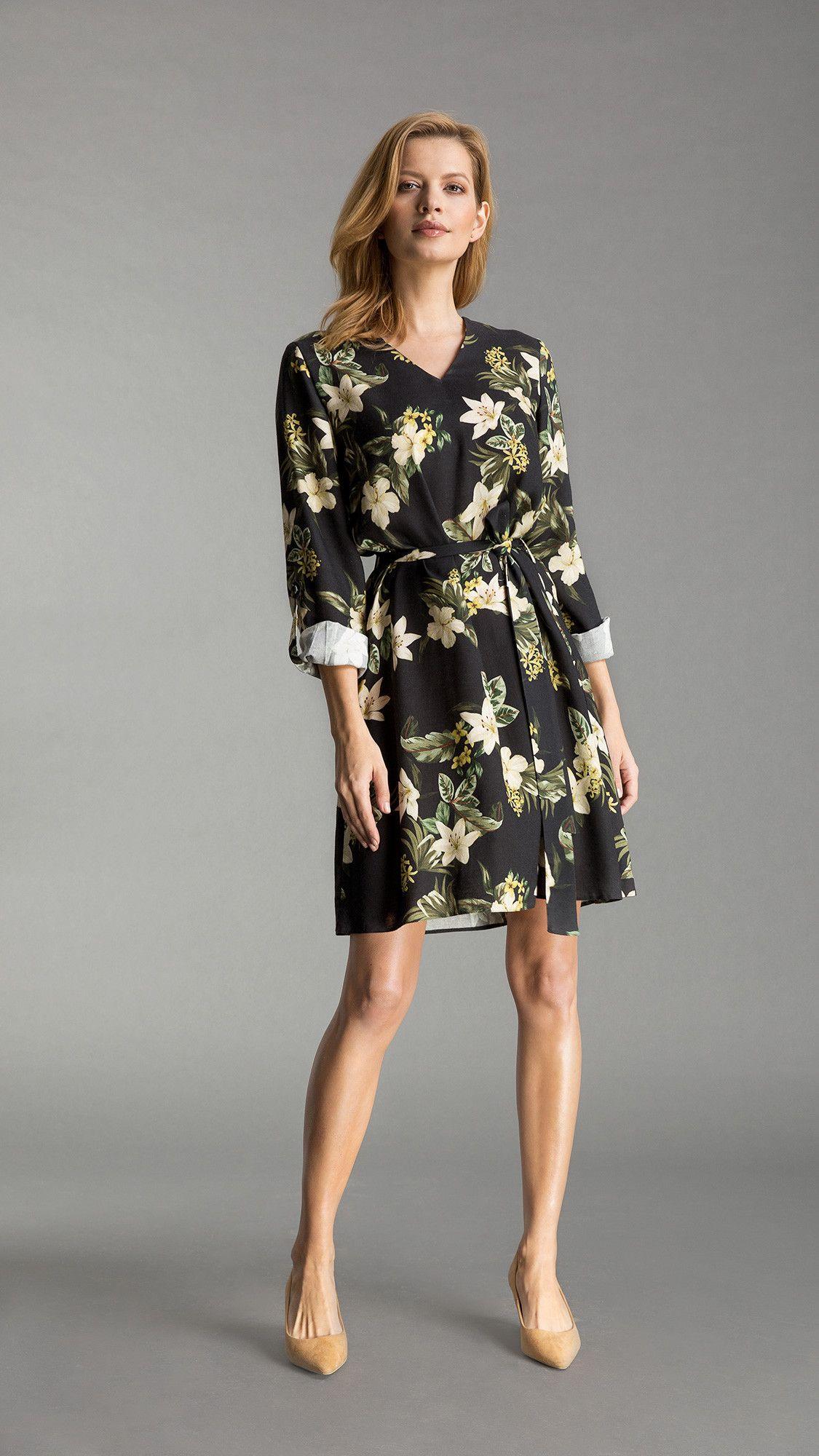 Dress Nicole Floral Black