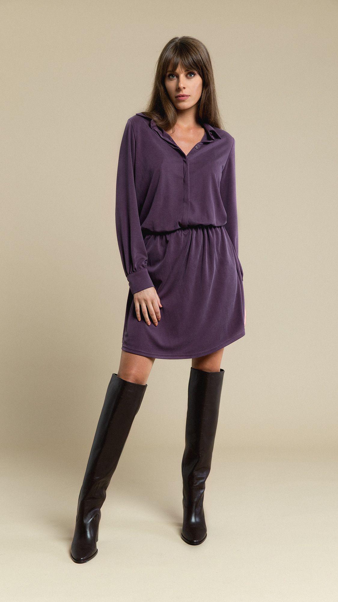Dress Sophia Pastel Plum