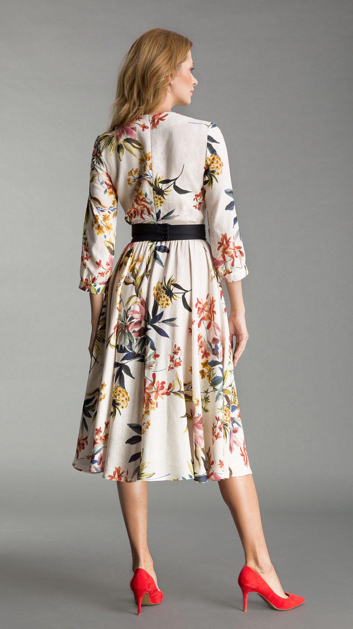 Dress Yvonne Floral White