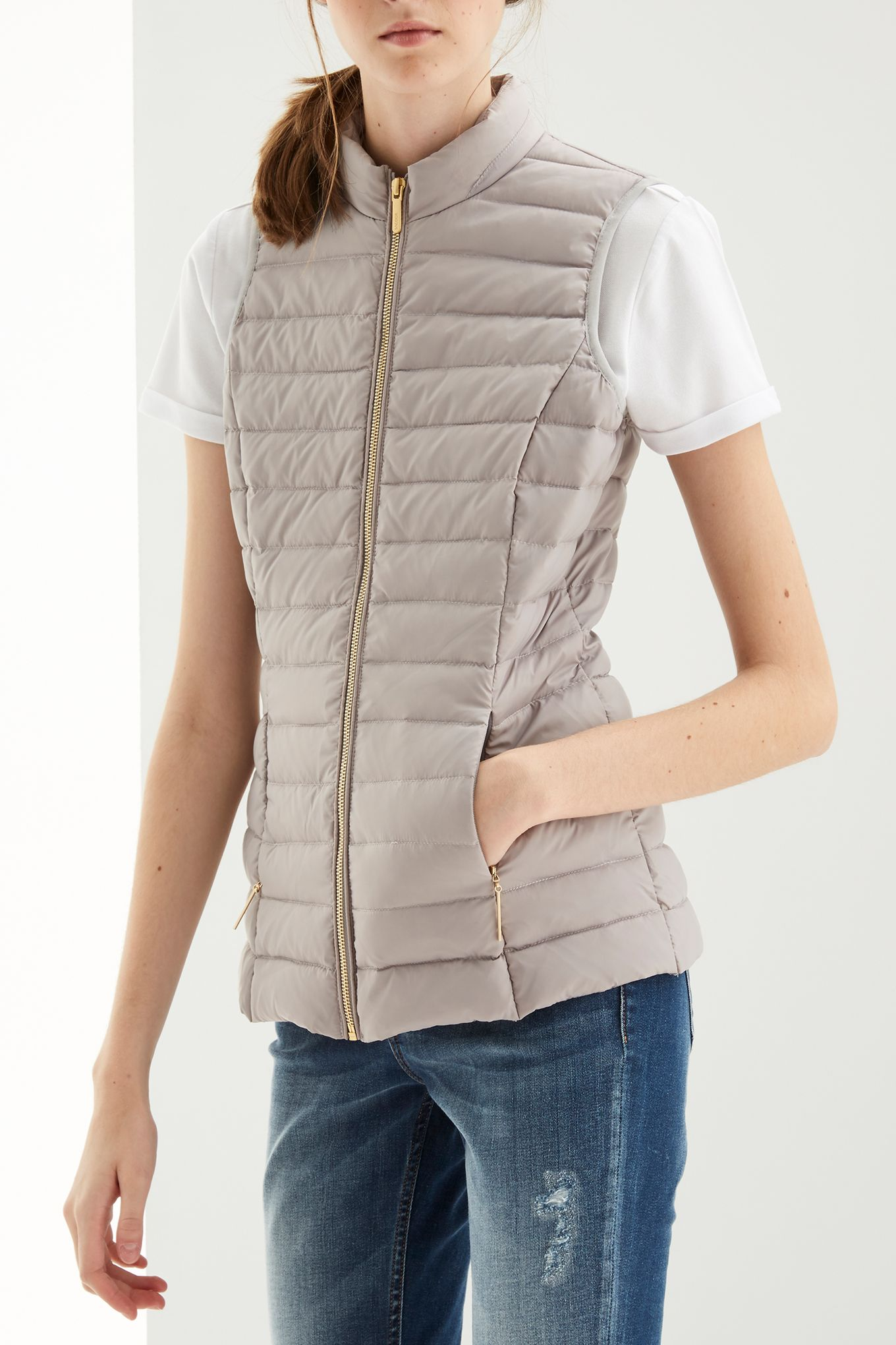 Womens grey casual vest
