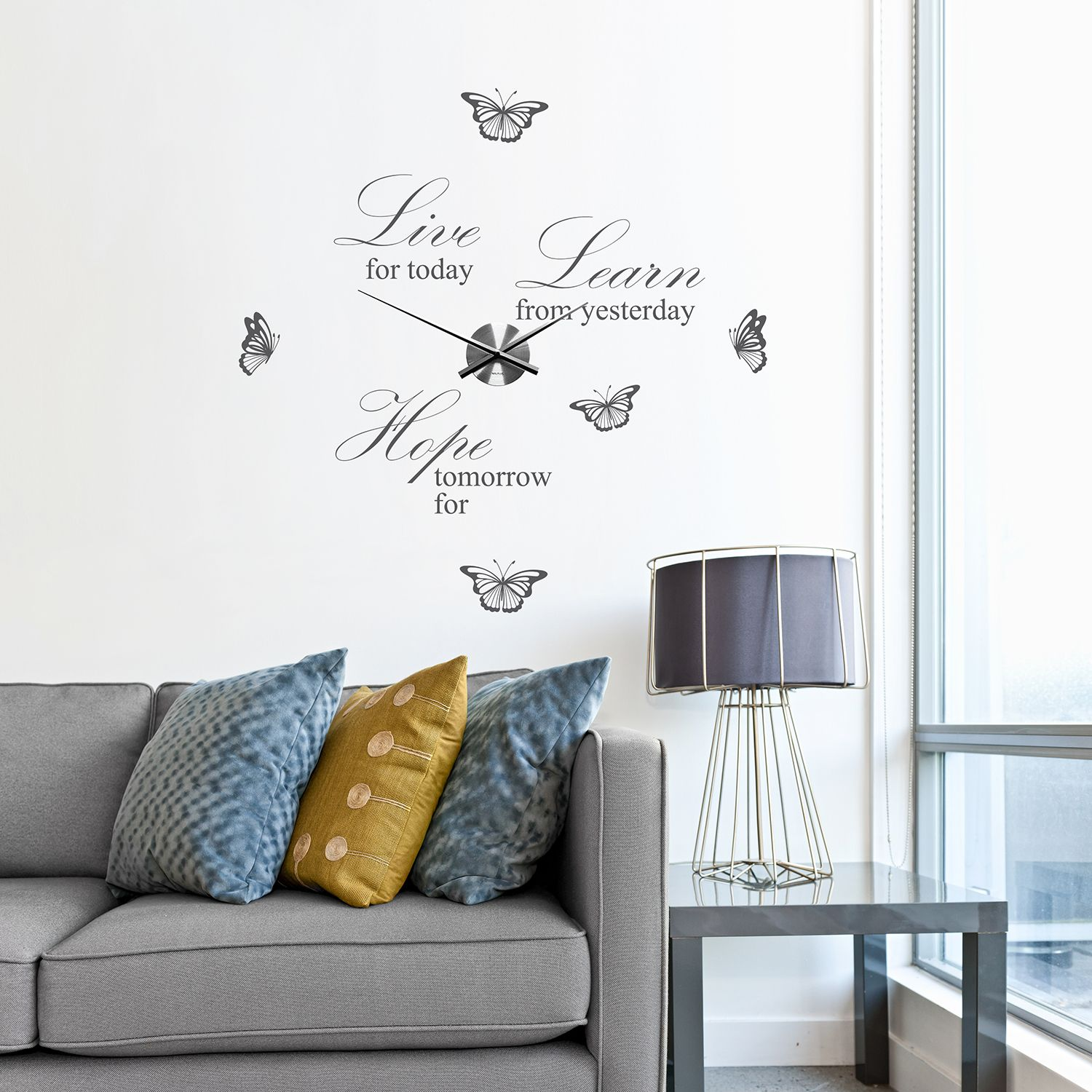 WC2105 - COM - WS3024G + WC2051 - Live Learn Hope Quote Wall Clock