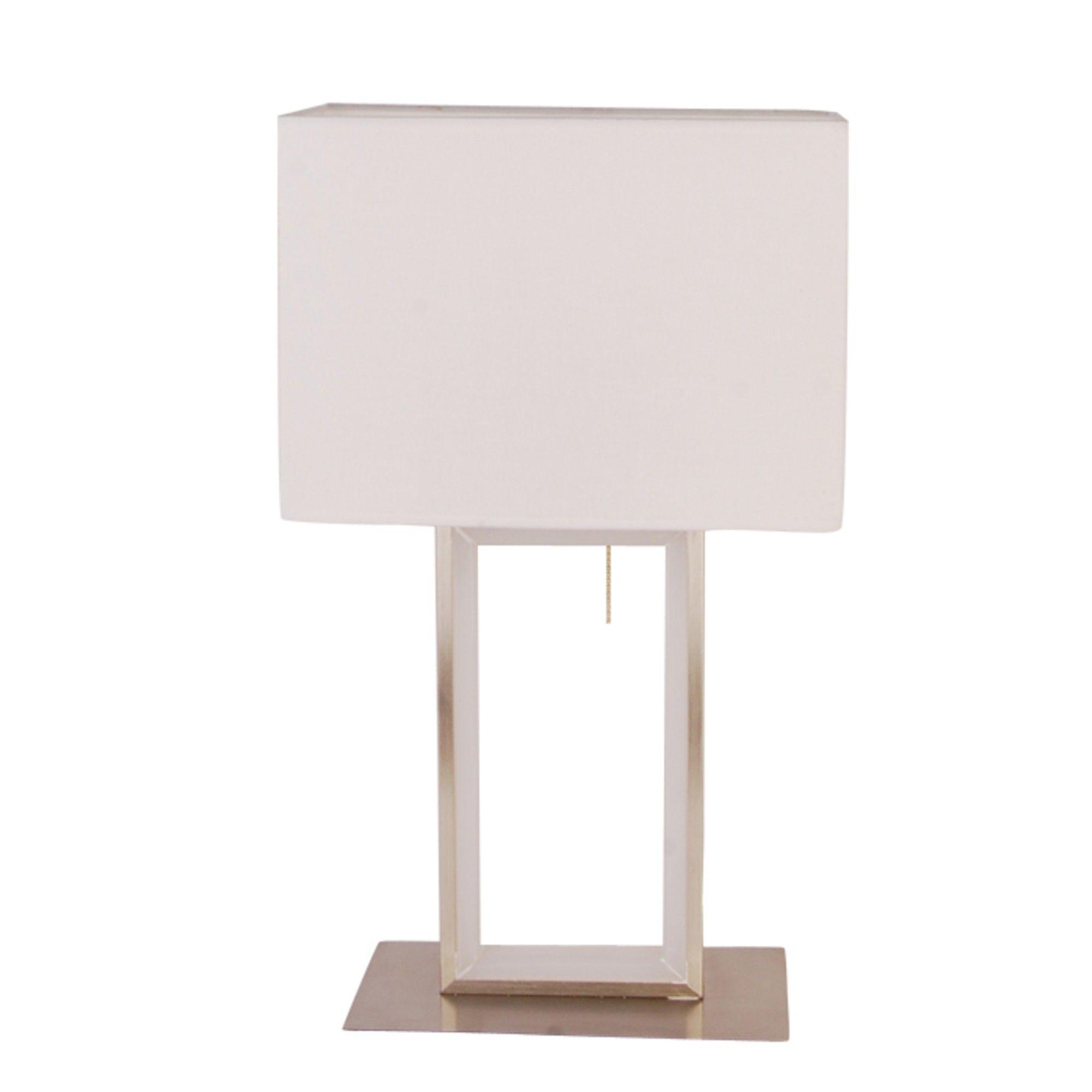 Ulari Warm White LED 43.5cm Satin Nickel Table Lamp