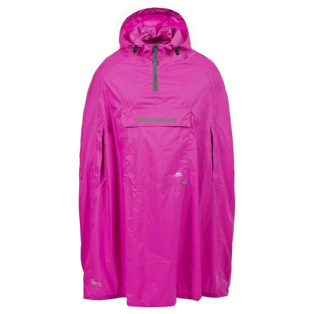 Trespass Mens Ladies Qikpac Waterproof Breathable Packable Poncho