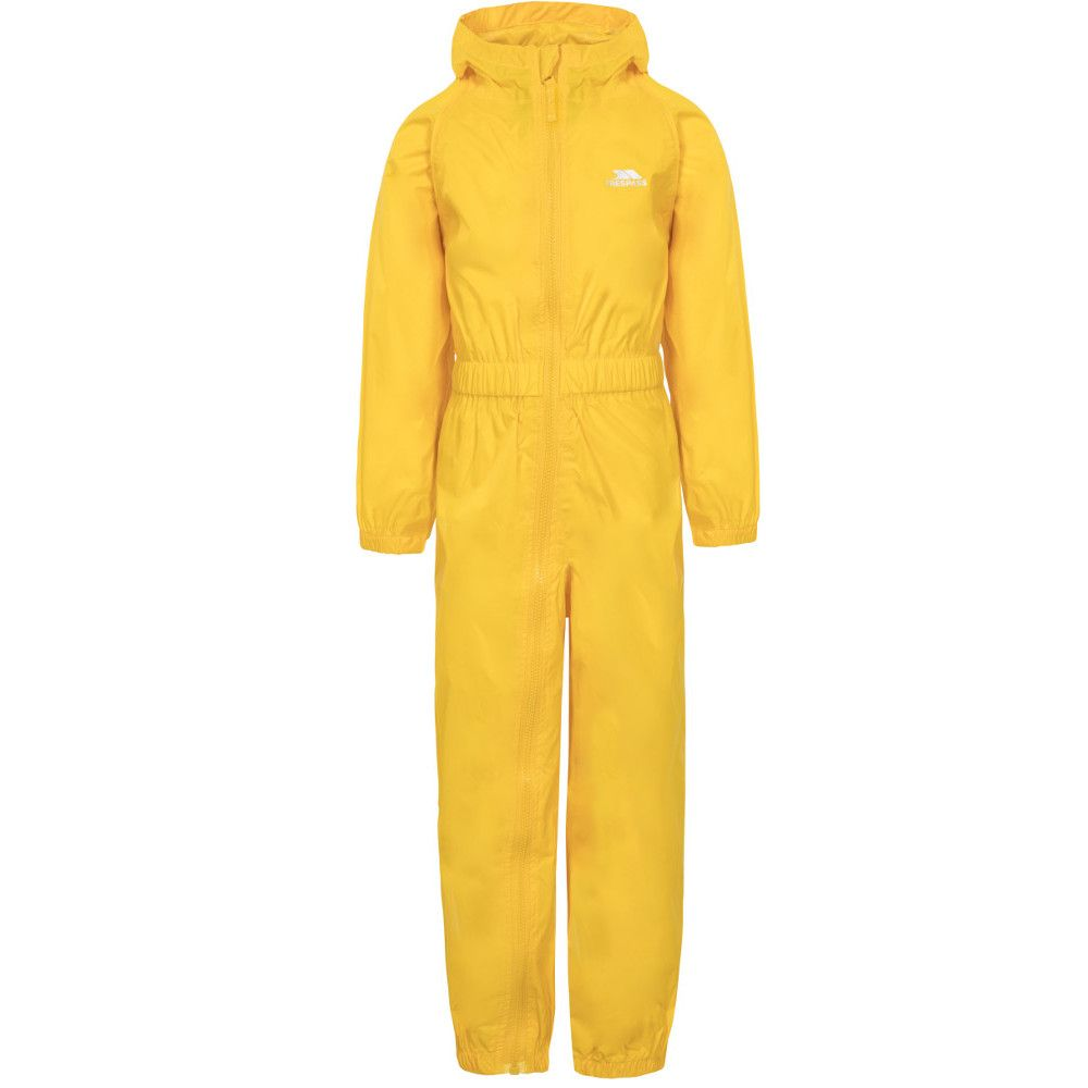Trespass Boys Girls Button Waterproof Breathable Rainsuit