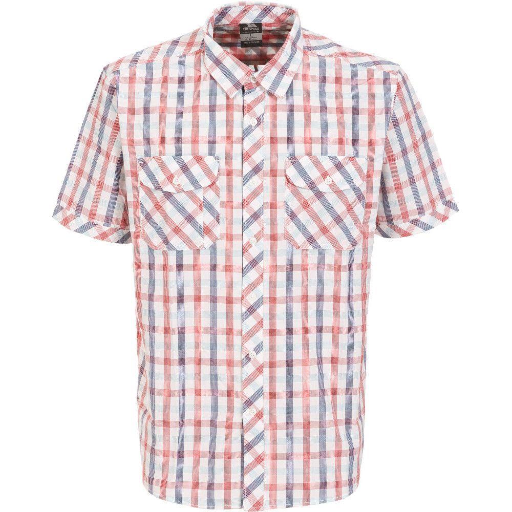 Trespass Mens Hopedale Woven 100% Cotton Chest Pocket Button Shirt