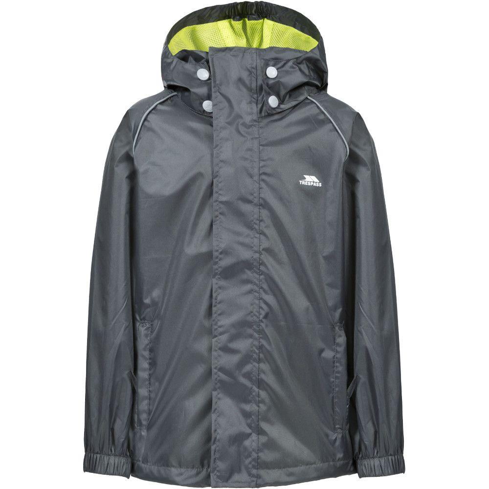Trespass Boys & Girls Neely II Waterproof Breathable Rain Shell Jacket