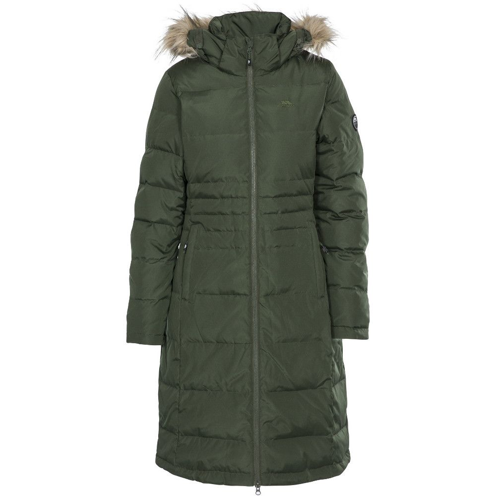 Trespass Womens/Ladies Phyllis Long Length Hooded Down Jacket