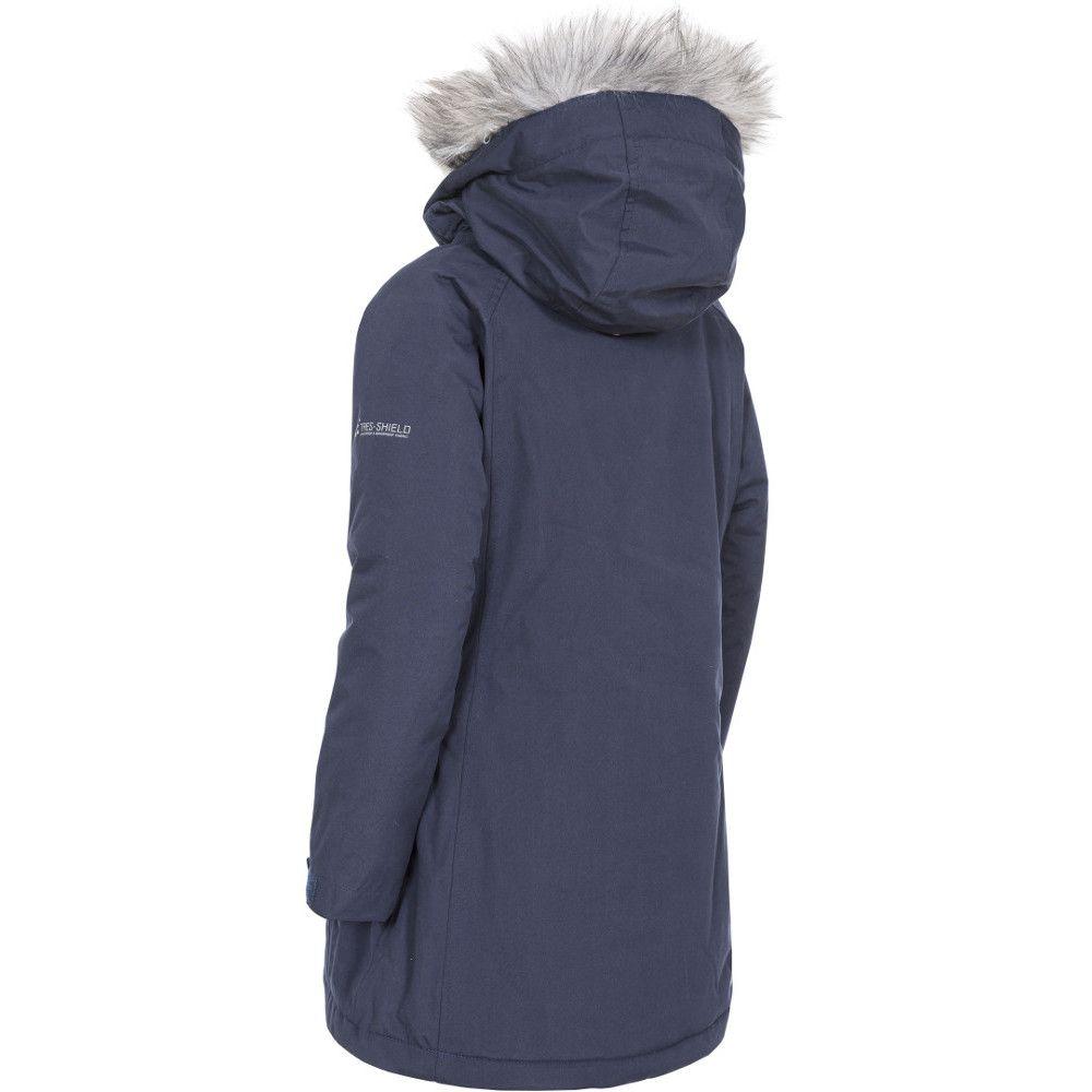 Trespass Girls Fame Waterproof Windproof Longer Length Padded Jacket