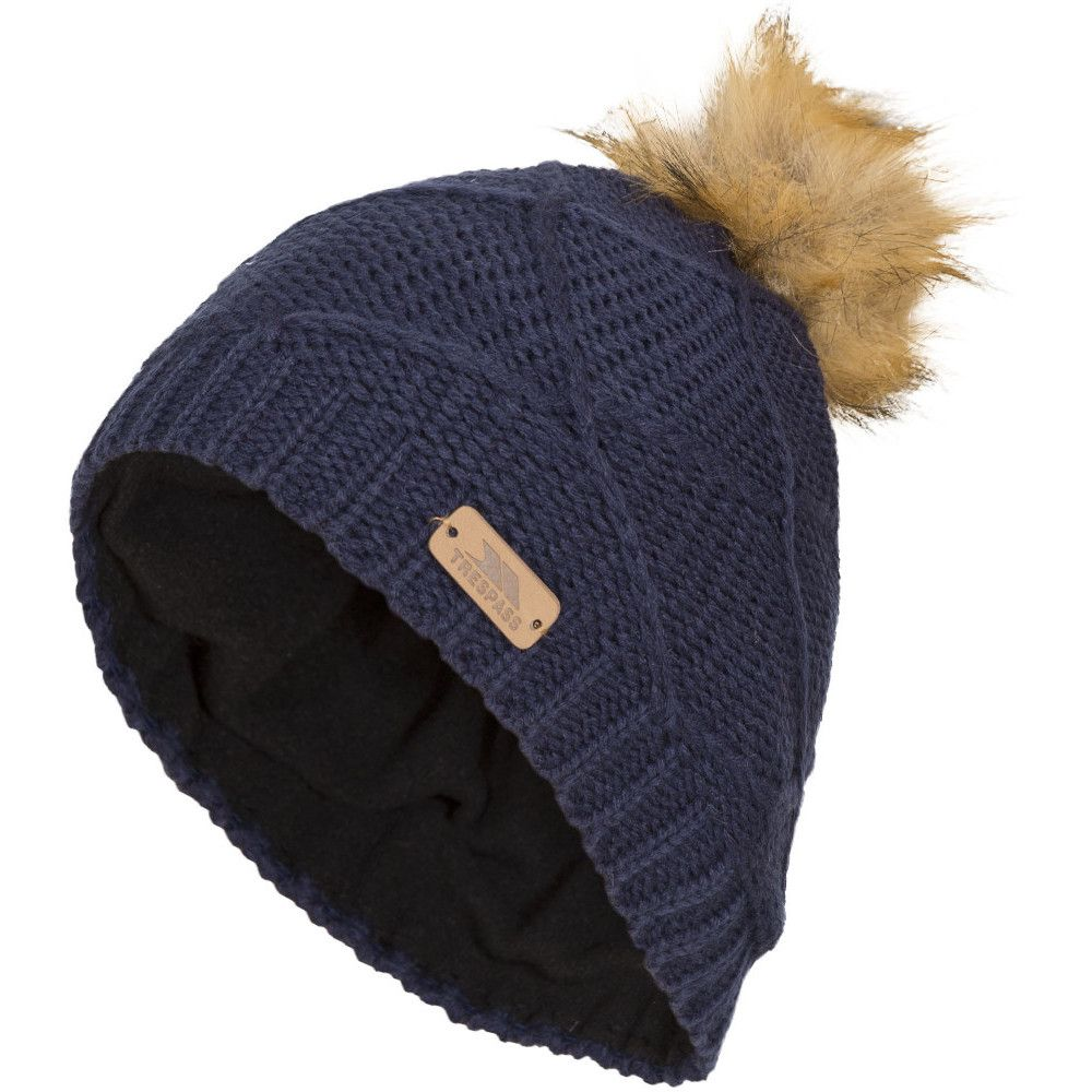 Trespass Boys & Girls Tanisha Knitted Acrylic Pom Pom Beanie Hat