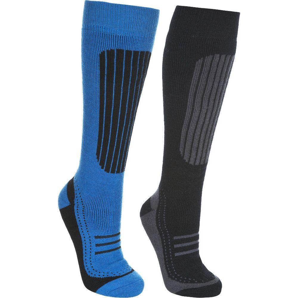 Trespass Mens Langdon II Acrylic Two Pair Pack Technical Ski Socks