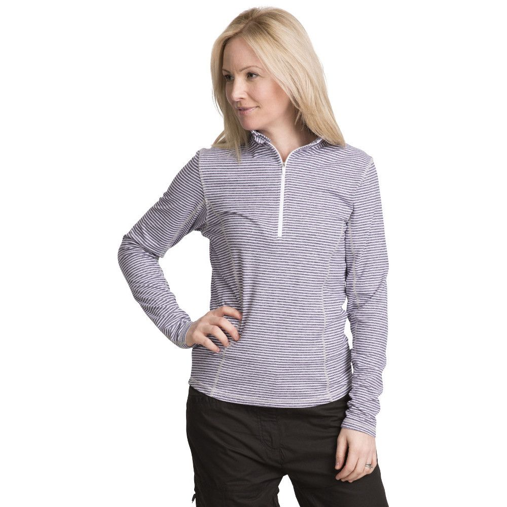 Trespass Womens/Ladies Overjoy Half Zip Long Sleeved Wicking Top