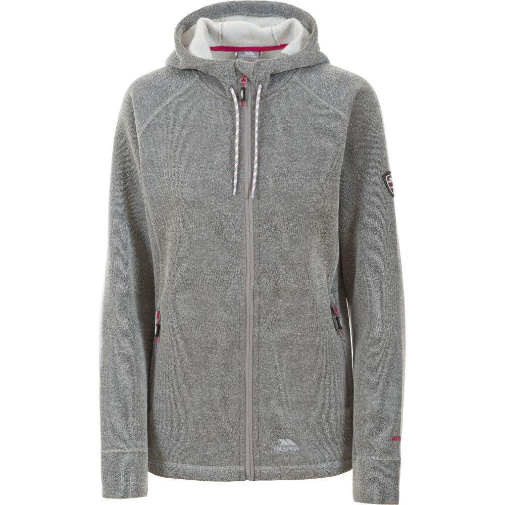 Trespass Womens/Ladies Whirlwind Hooded Knitted Marl Fleece Jacket