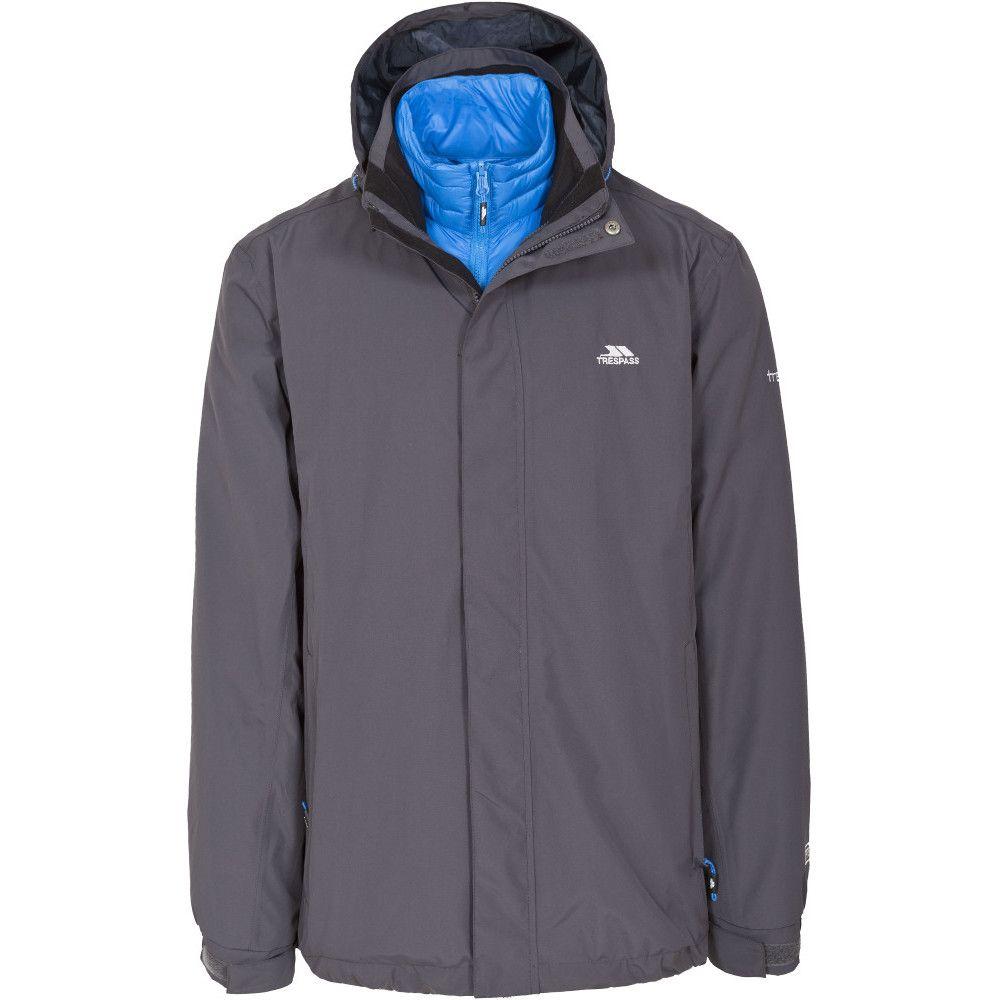 Trespass Mens Pathway Waterproof Breathable 3 In 1 Down Jacket Coat