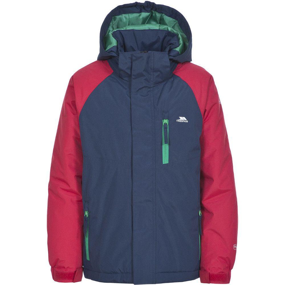 Trespass Boys Lomont Lightly Padded Waterproof Windproof Rain Jacket