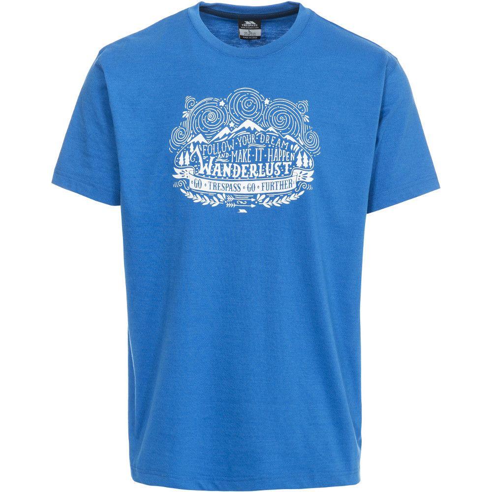Trespass Mens Hainey Short Sleeve Printed Casual Sports T-Shirt