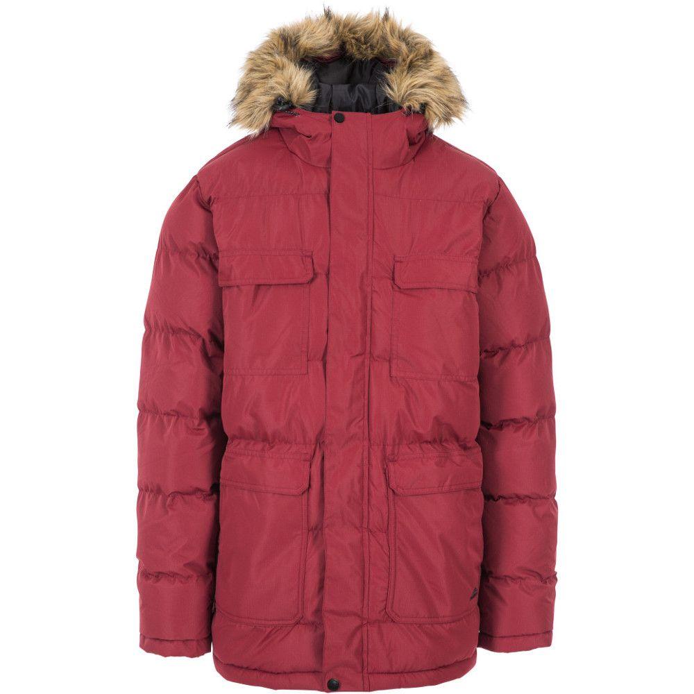 Trespass Mens Baldwin Warm Padded Hooded Waterproof Insulated Jacket