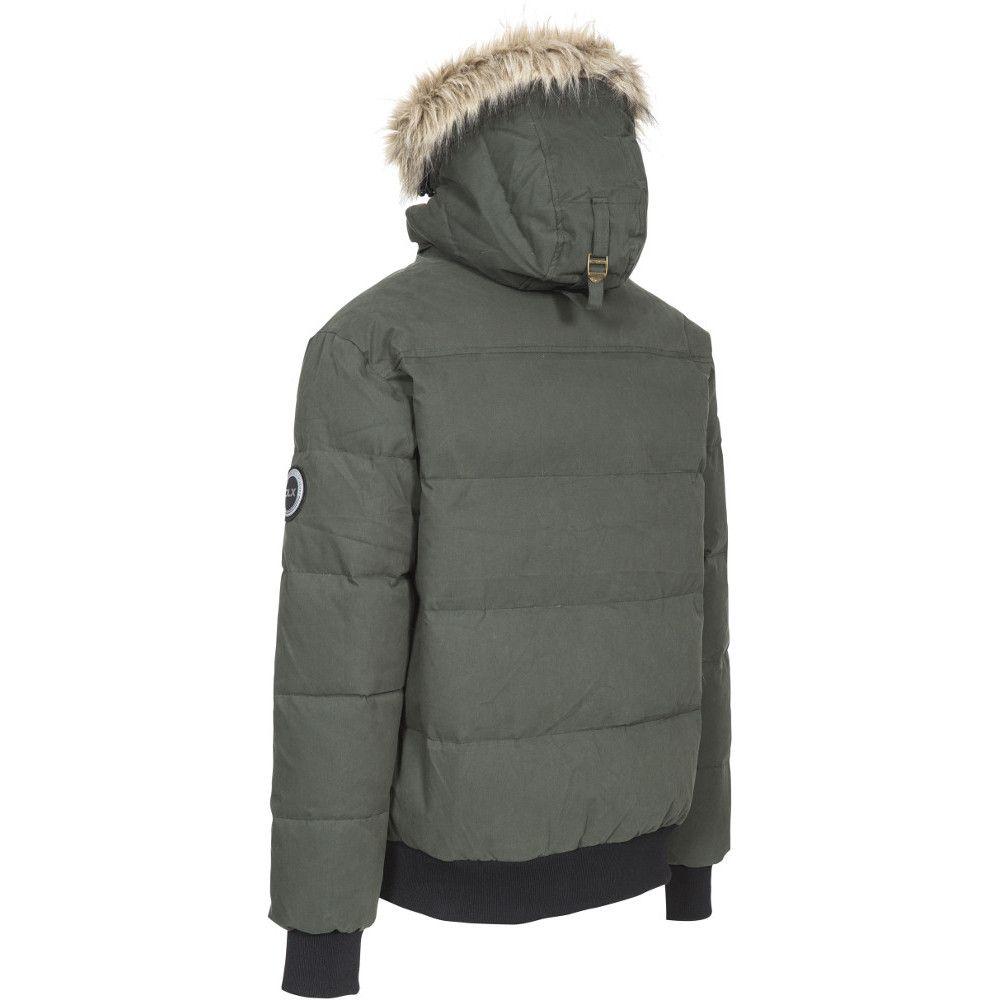 Trespass Mens Calgary Hooded Padded Synthetic Duck Down Jacket Coat