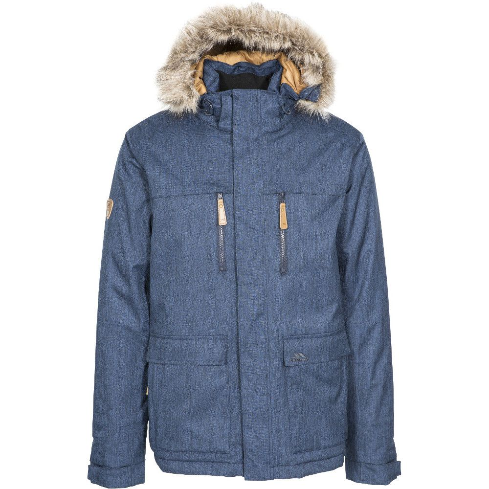 Trespass Mens Kingpeak Waterproof Windproof Padded Walking Jacket Coat
