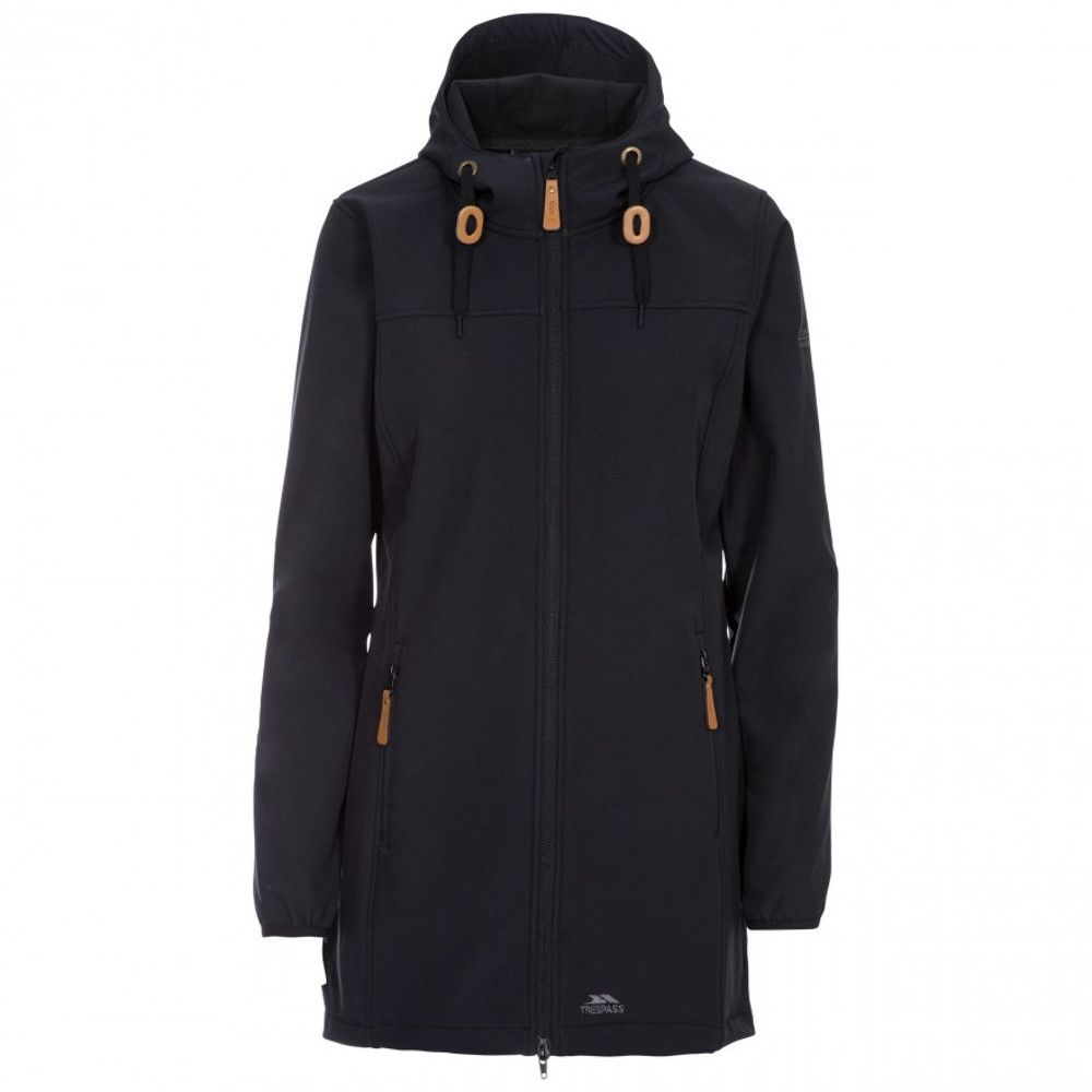Trespass Womens Kristy Hooded Long Length Softshell Coat