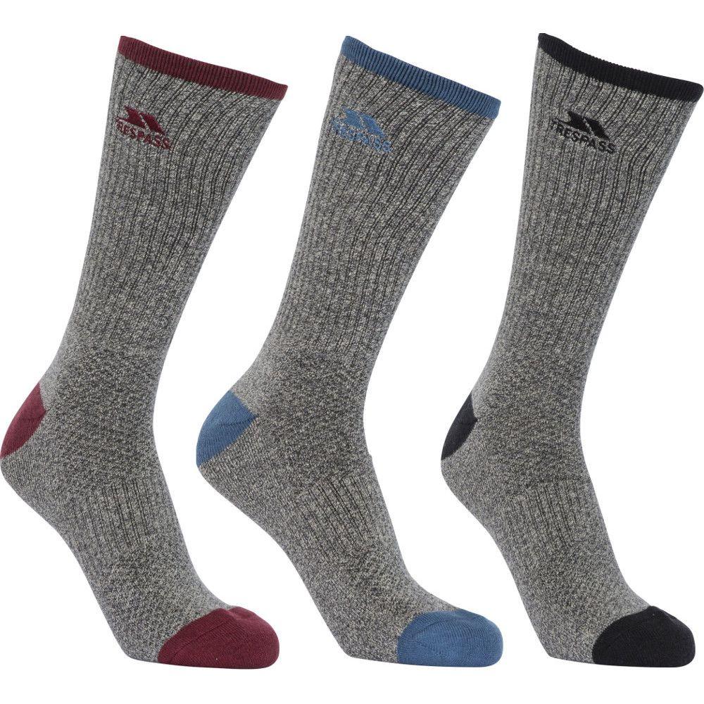 Trespass Mens Radulf Mid Length 3 Pack Technical Port Socks