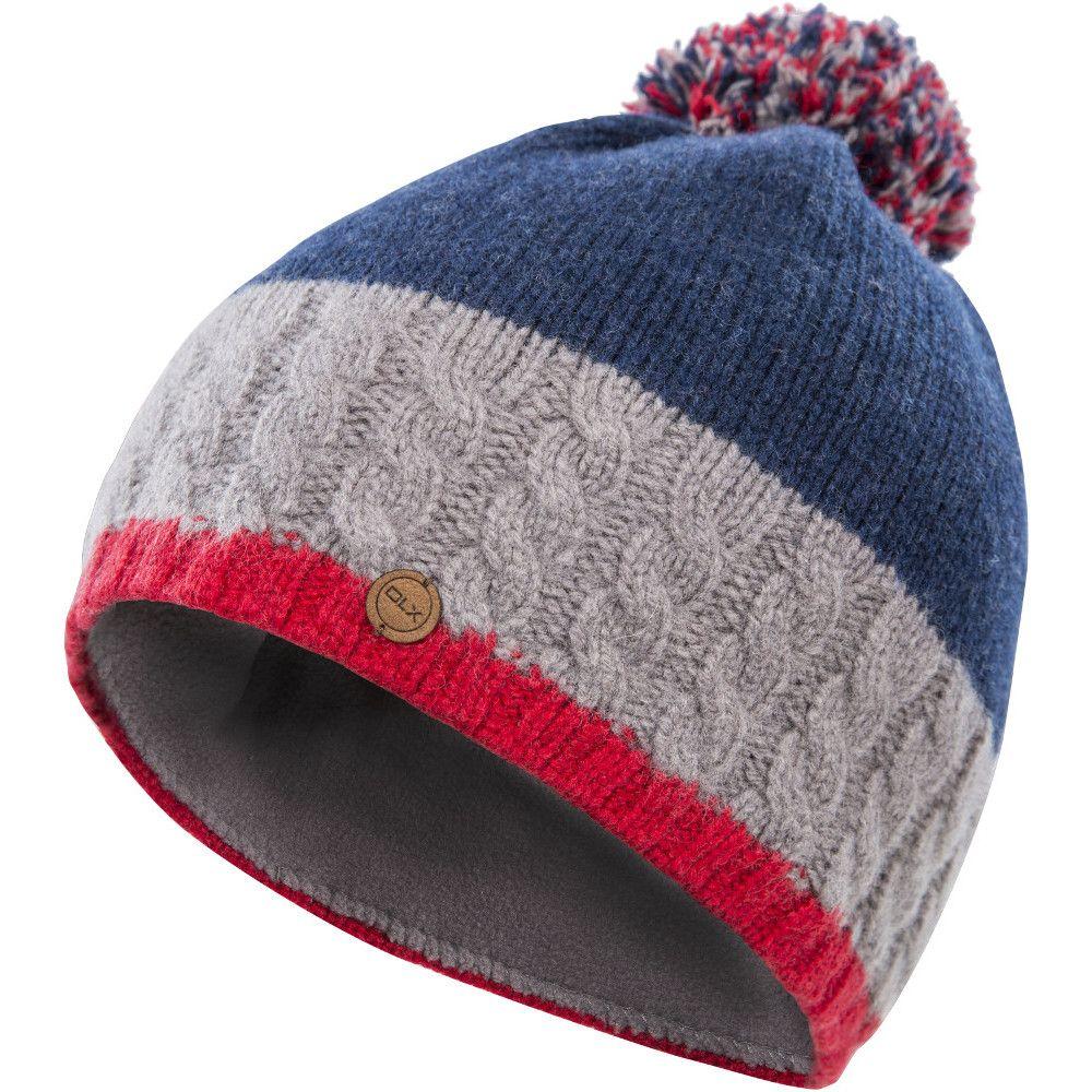 Trespass Mens Sheeran DLX Lined Knitted Pom Pom Beanie
