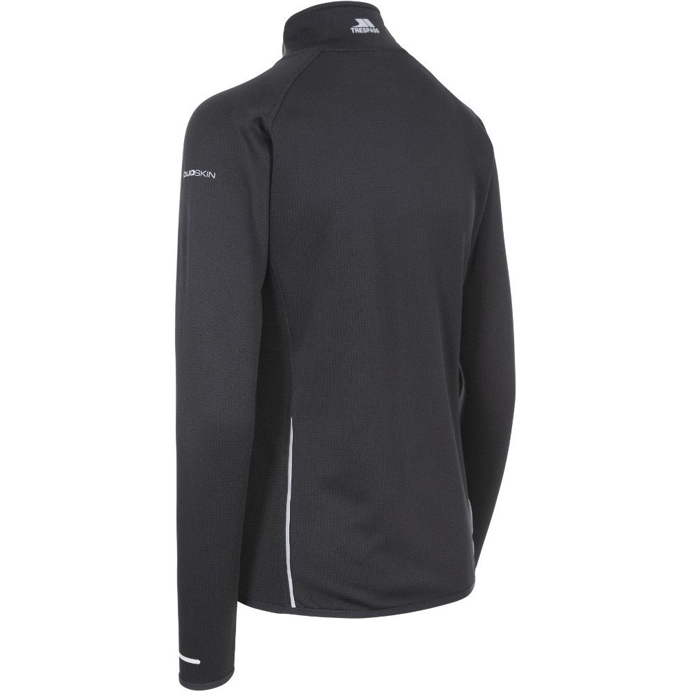 Trespass Womens Evie Sweat Wicking Full Zip Gym Top