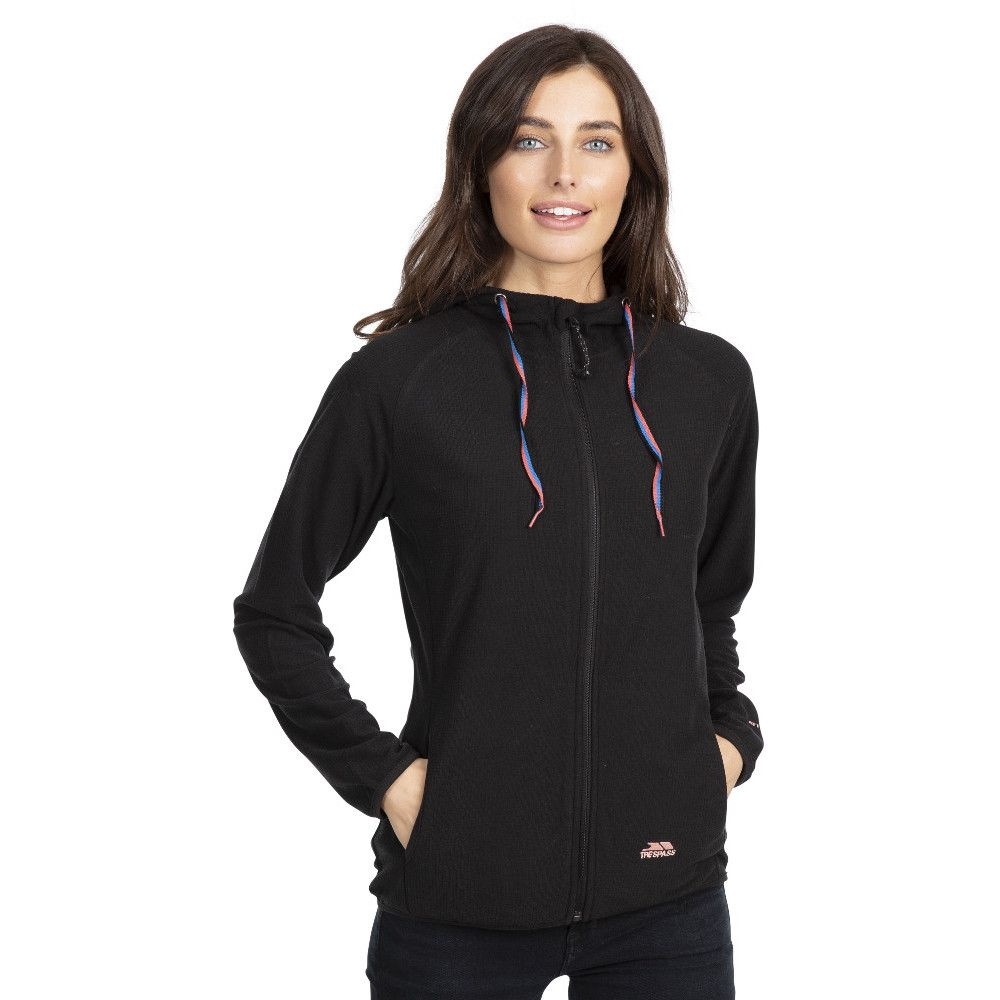 Trespass Womens Network Full Zip Fleece Hoodie Top