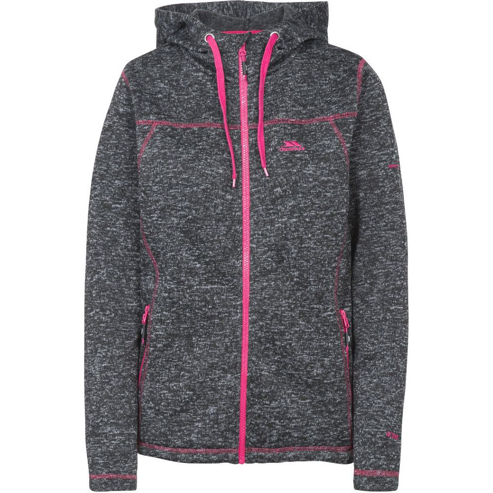 Trespass Womens Odelia Full Zip Knitted Fleece Hoodie