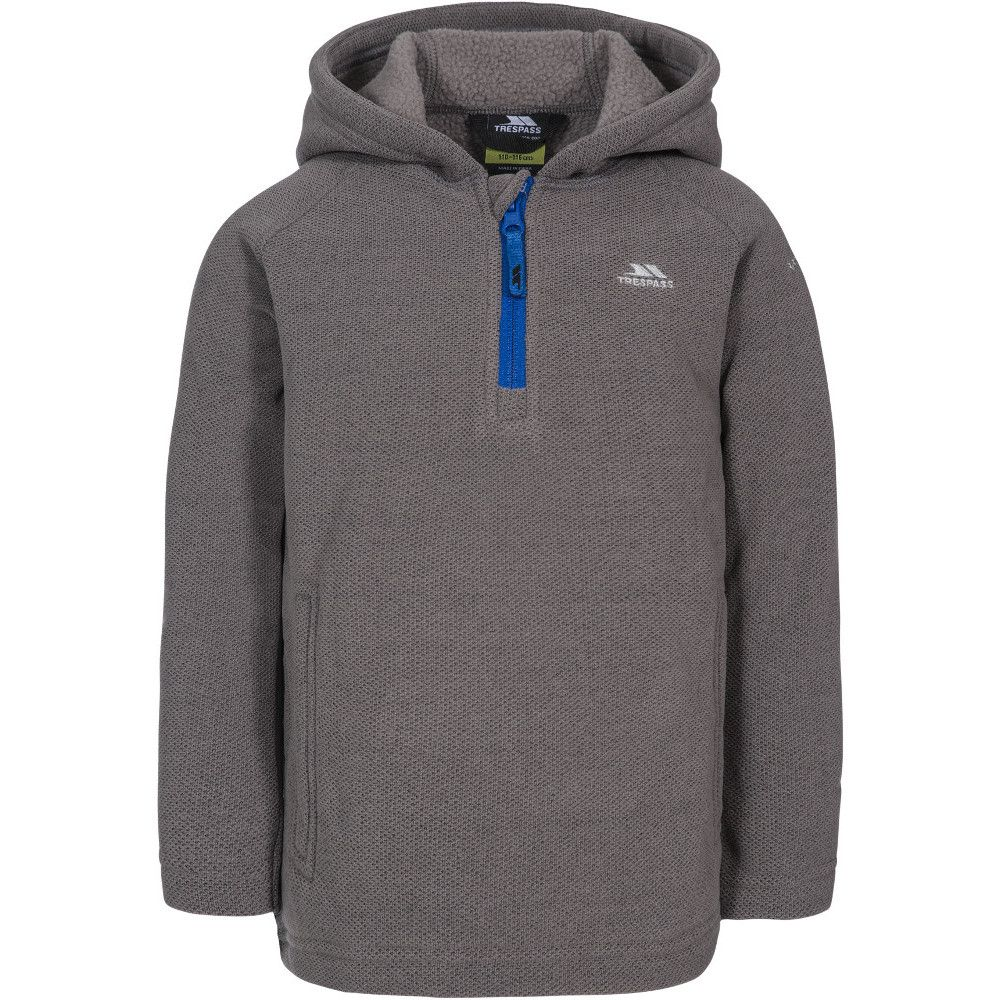 Trespass Boys Thunda X Half Zip Fleece Hooded Jacket