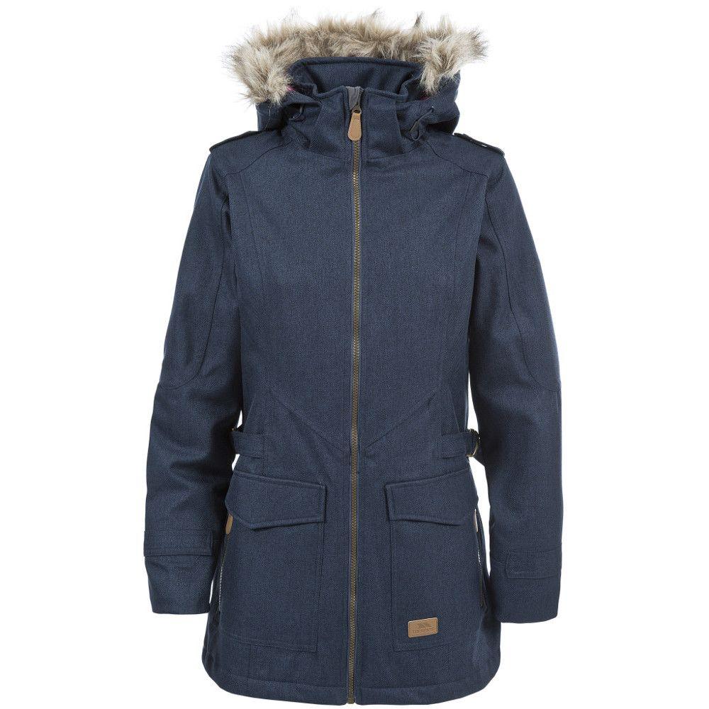 Trespass Ladies Everyday Waterproof Padded Faux Fur Trim Jacket