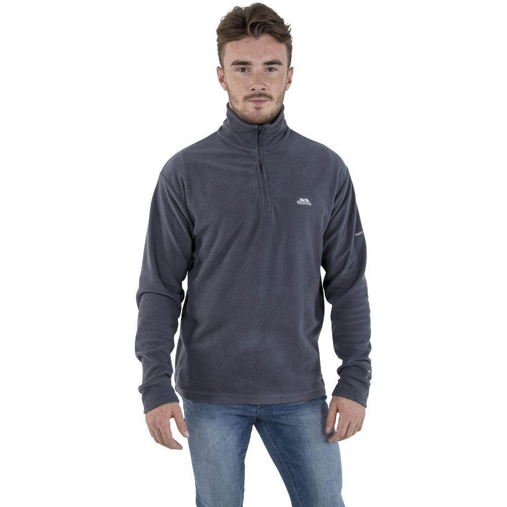 Trespass Mens Masonville Lightweight Half Zip Midlayer Fleece Top