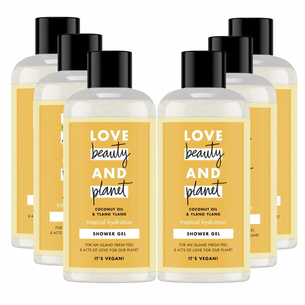 Love Beauty & Planet Tropical Hydration Coconut Oil & Ylang Ylang Shower Gel 100ml (Pack of 6)