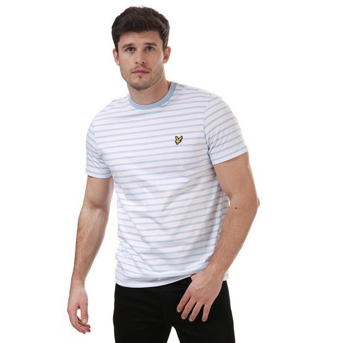 Men's Lyle And Scott Breton Stripe T-Shirt in Blue