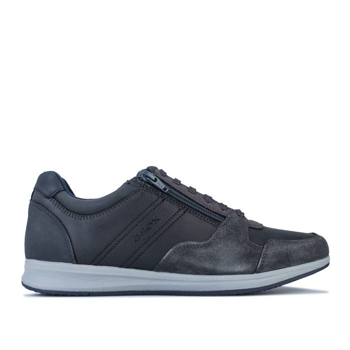 Men's Geox Avery Trainers in Grey