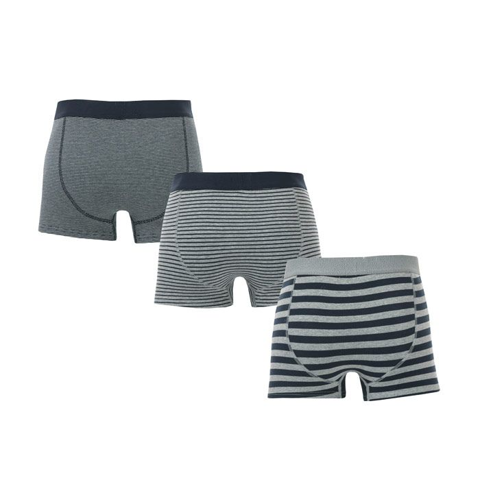 Men's Ben Sherman Goddard 3 Pack Boxer Shorts in Navy Grey