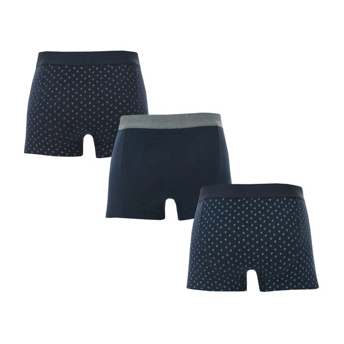 Men's Ben Sherman Langworth 3 Pack Boxer Shorts in Navy