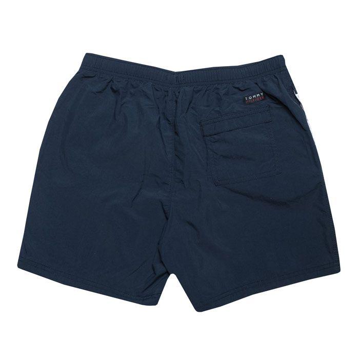 Boy's Tommy Hilfiger Junior Signature Swim Shorts in Navy