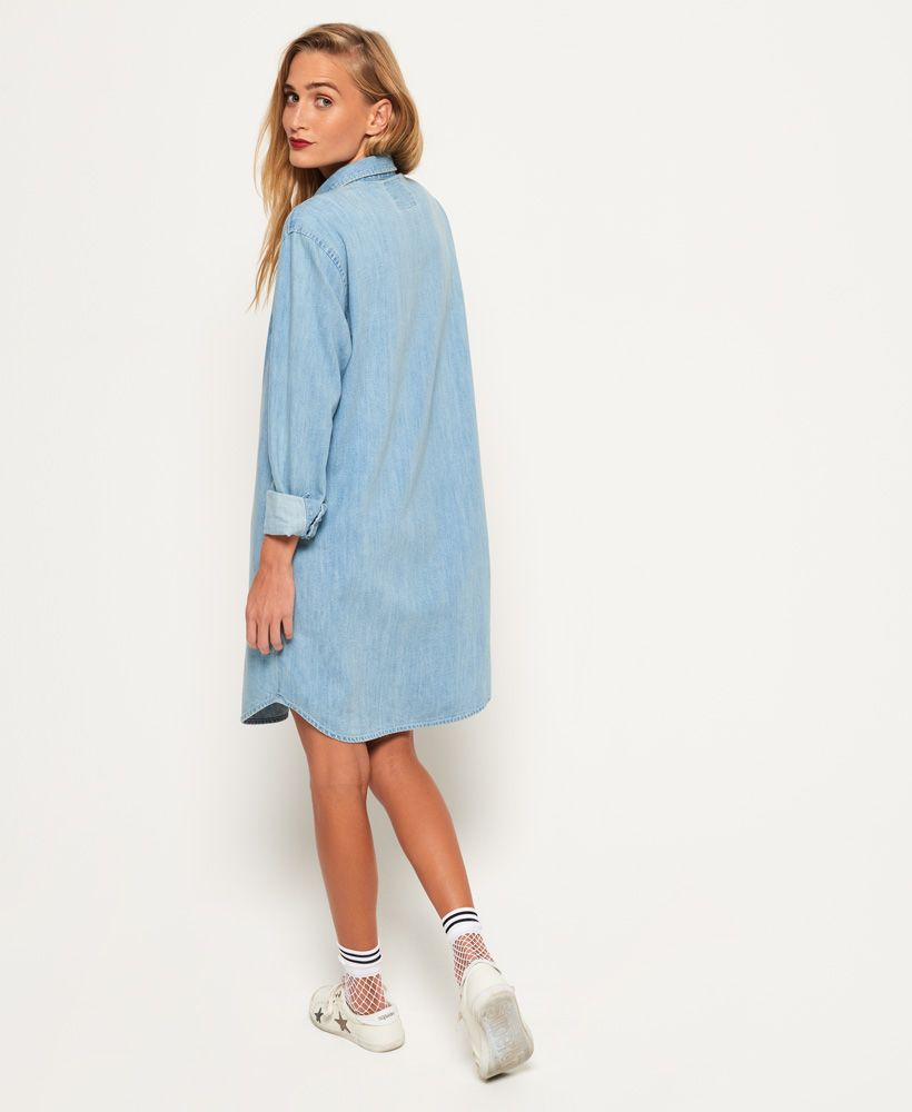 Superdry Oversized Denim Shirt Dress