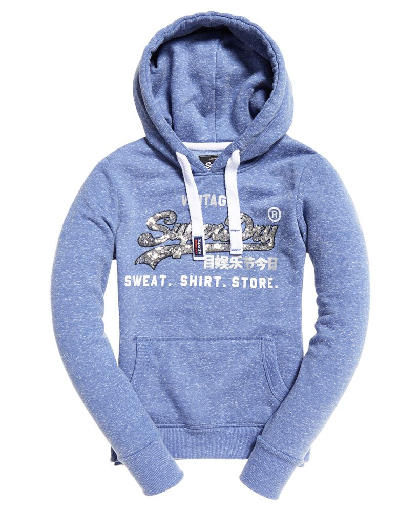 Superdry Shirt Shop Sequin Hoodie
