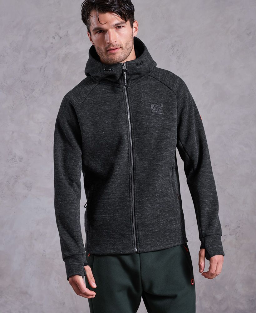 Superdry Gym Tech Pique Zip Hoodie