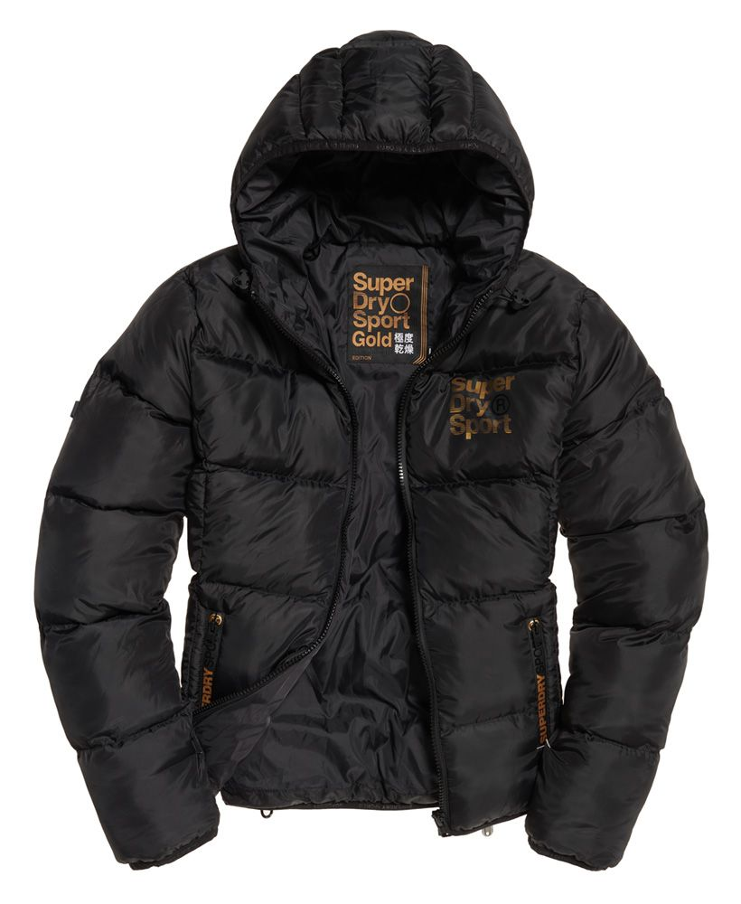 Superdry Gym Tech Gold Puffer Jacket