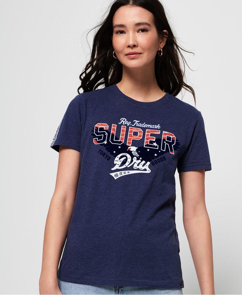 Superdry Eagle Star Flock T-Shirt