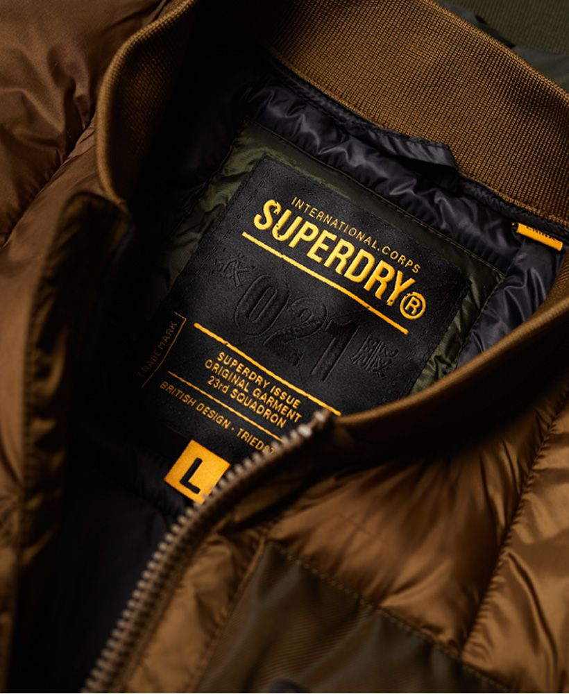 Superdry Convex Mixed Quilt Bomber Jacket