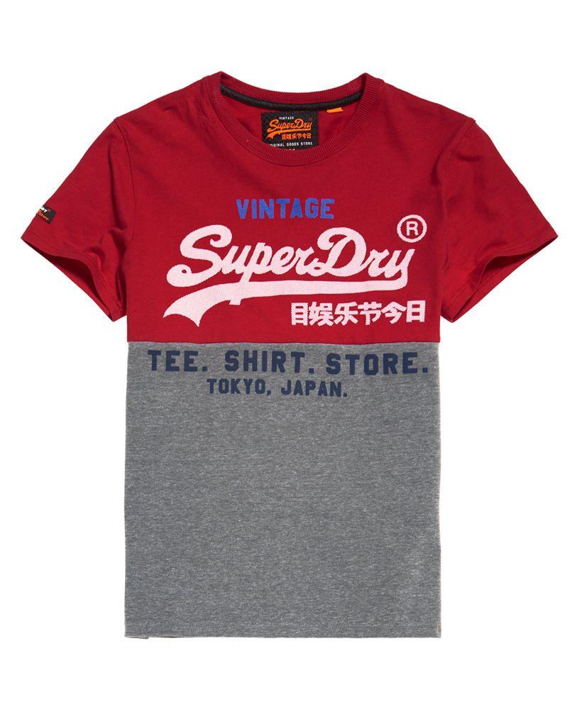 Superdry Shirt Shop Tri Panel T-Shirt