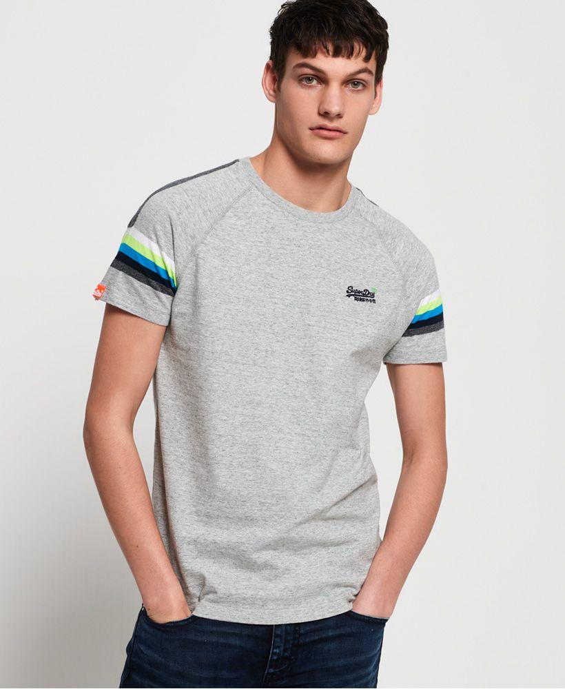 Superdry Orange Label Engineered Stripe T-Shirt