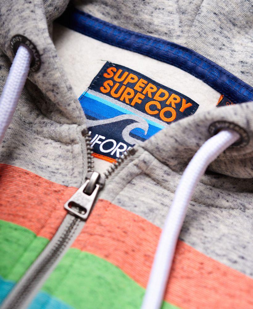 Superdry Ticket Type Stripe Zip Hoodie